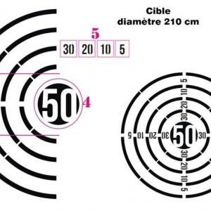 Pochoir cible diametre 210 cm