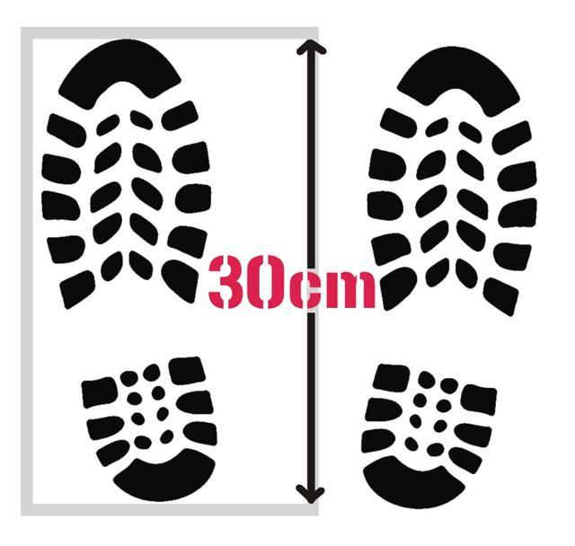 Pochoir empreintes de chaussures pochoirs signalisation small
