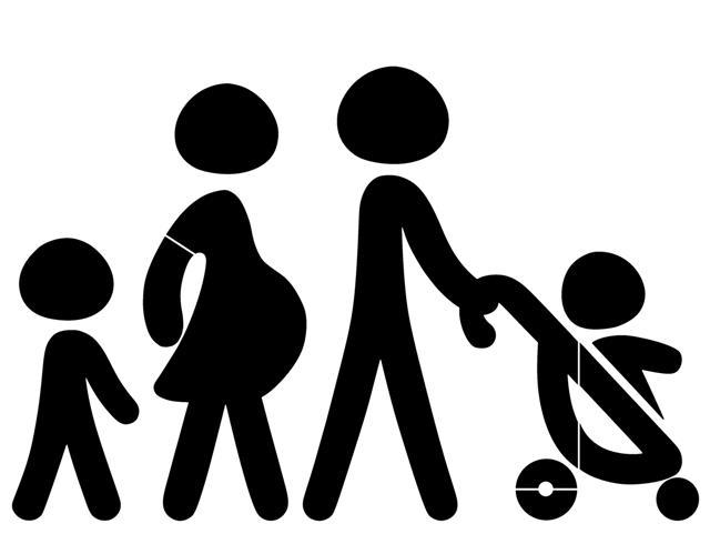 Pochoir famille carrefour