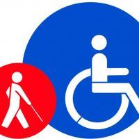 Pochoir handicape malvoyant marquage sol parking couleur medium