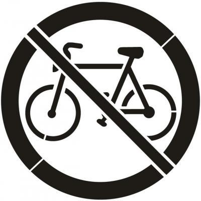 pochoir panneau interdit aux bicycles