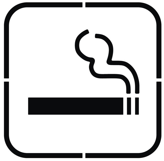 Pochoir interdit de fumer cigarette