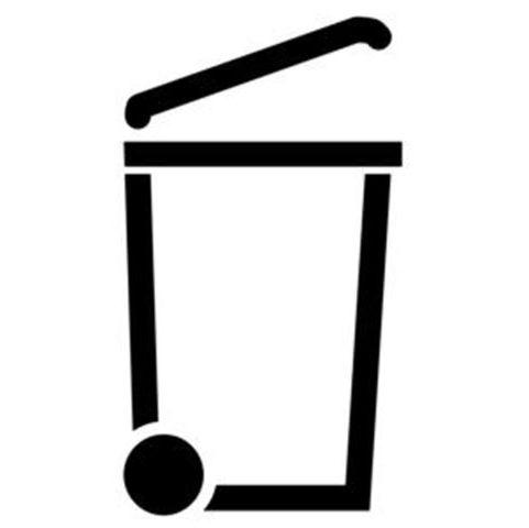 Pochoir logo pictogramme poubelle marquage
