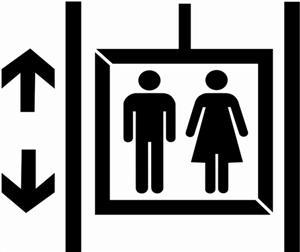Pochoir pictogramme ascenseur