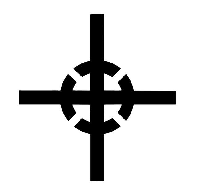 Pochoir pictogramme centre de gravite