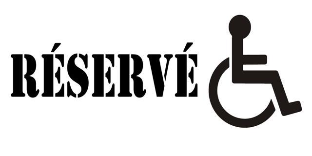 Pochoir reserve handicape pmr