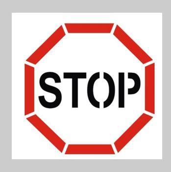 pochoir panneau STOP
