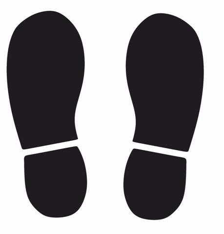 Pochoir traces de pieds