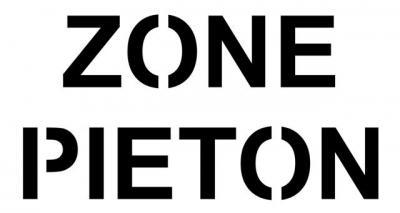 pochoir ZONE PIETON