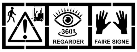 Vig65 pochoir securite atelier vigilance danger signaletique a peindre pochoir signalisation verticale