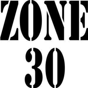 Zone30 pochoir zone 30 pour route signalisation routiere horizontale a peindre format carre p